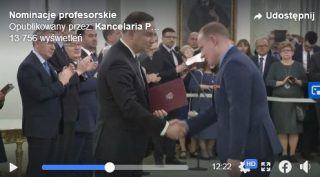 Akt nominacyjny odebrał Piotr H. Skarżyński